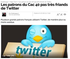 Les patrons du Cac 40 et Twitter