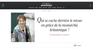 Entretien pour le Figaro, Sally Osman, Famille Royale, Kate et William